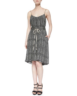 Cobra Tie-Waist Dress