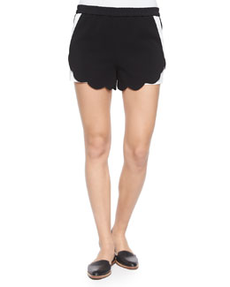 AJ Two-Tone Scalloped Shorts