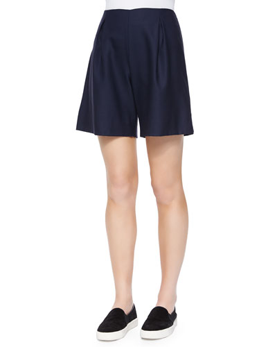 Weston Pleated Wool Shorts