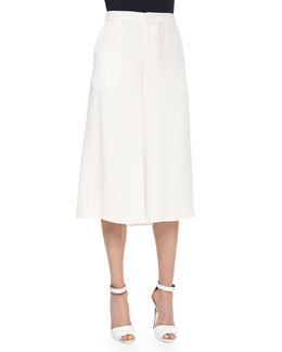 Holly Silk Culottes, Ivory