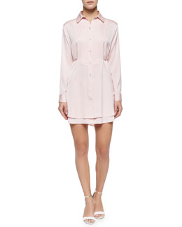 Kia Long-Sleeve Shirtdress