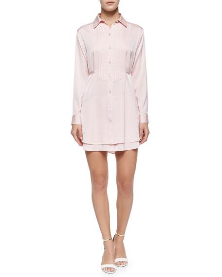 Kia Long-Sleeve Shirtdress