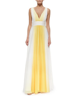 Sleeveless Ombre Flowy Gown