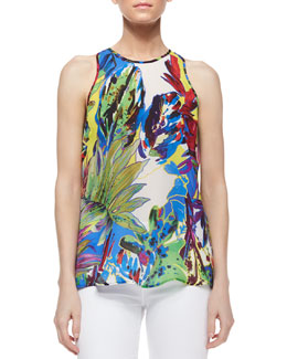 Marie Floral-Print Tank
