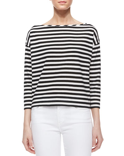 Riviera 3/4-Sleeve Striped Sailor Tee