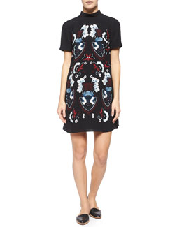 Drake Garland-Print Shift Dress