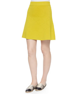 Myers Pointelle Flare Skirt