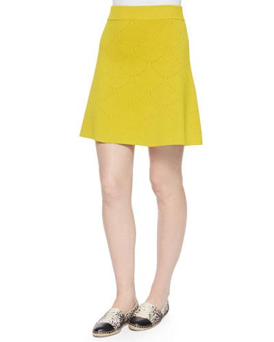 Myers Pointelle Flare Skirt