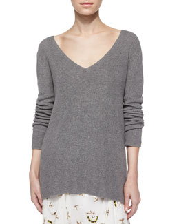 Ty Long-Sleeve V-Back Sweater