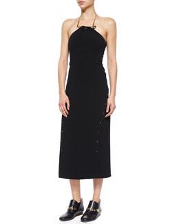 Strapless Midi Dress W/ Detachable Necklace
