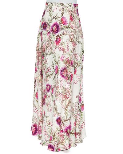 Floral-Print Maxi Skirt