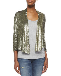 Drapey Sequined Blazer