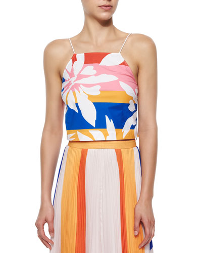 Marrisa Flower-Stripes Top