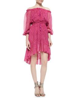 Petal Dreams Off-the-Shoulder Dress, Pink