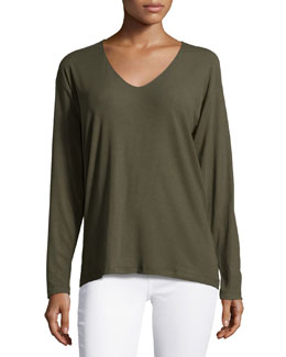 Tiverna Ribbed Long-Sleeve Tee