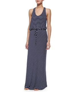 Maribel Striped Tie-Waist Maxi Dress