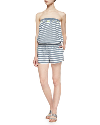 Gidget Striped Strapless Jumpsuit