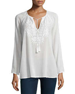 Majorie Embroidered Voile Top