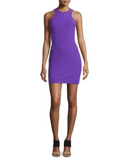 Sleeveless Stretch Tech Suiting Dress, Orchid