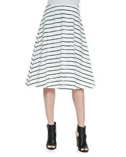 Akemi Striped A-Line Skirt