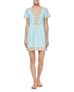 Majira Embroidered Cotton-Blend Dress, Alight