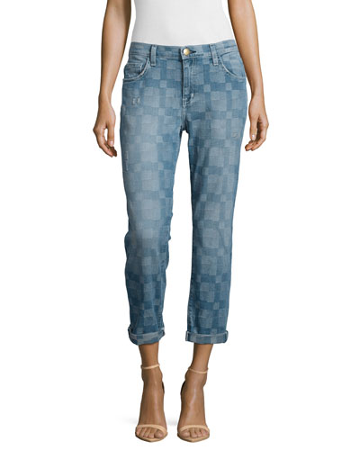 The Fling Cropped Ankle Jeans, Monterey Destroy