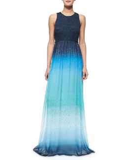 Konfetti Ombre Maxi Dress, Blue