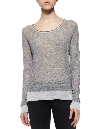 Skye Knit Pullover Sweater, Black