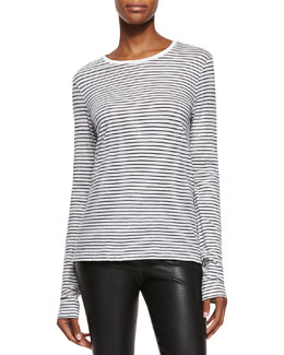 Feeder-Stripe Long-Sleeve Tee