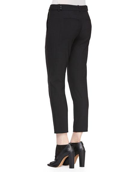 Pintuck Side-Tab Pants