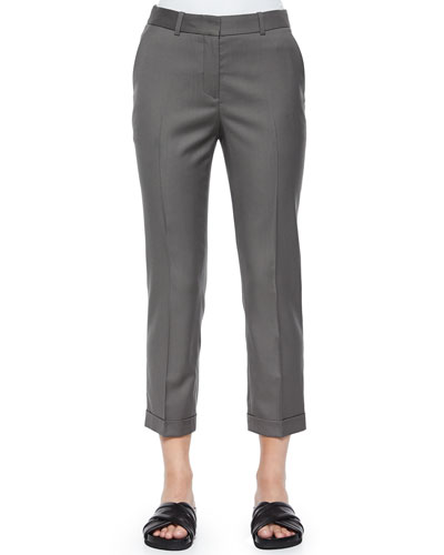 Mustadio Classy Cropped Wool Pants