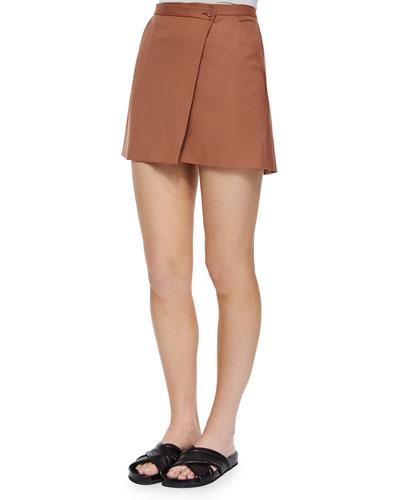 Kirti Classy Wool Skirt, Terracotta