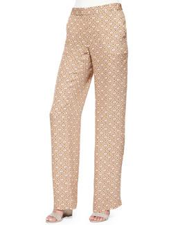 Mitrana Foulard-Print Trousers, Nectar Multi