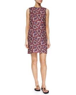 Brindina Veranda-Print Shift Dress, Multi Colors