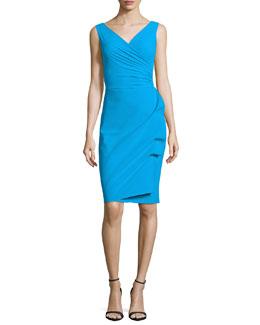 Elaine Sleeveless Wrap Sheath Dress