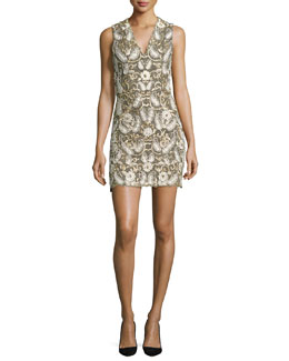Jania Embroidered Sleeveless Dress