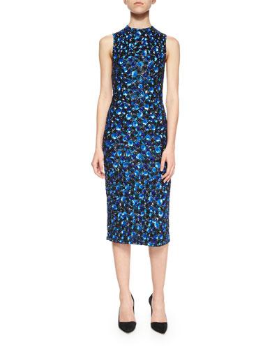 Ivana Beaded Midi Sheath Dress