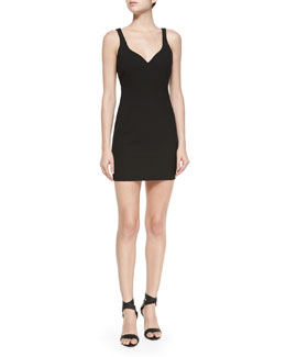 Nema Ponte Sheath Dress, Black