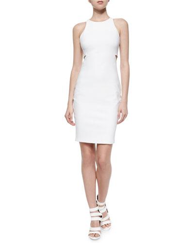 Lela Ponte Racerback Cutout Sheath Dress