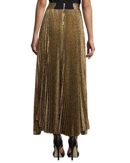 b68c9f652 Alice + Olivia Katz Shimmery Pleated Maxi Skirt