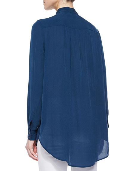 Drapey Long-Sleeve Blouse