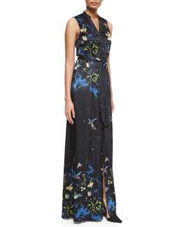 Marianna Enchanted Forest Printed Gown