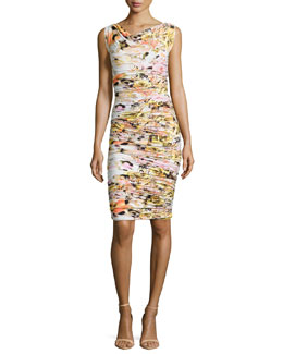 Ruggera Floral-Print Shirred Sheath Dress