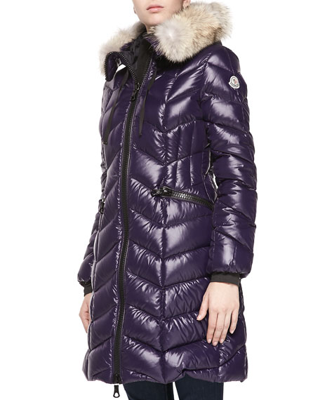moncler purple puffer