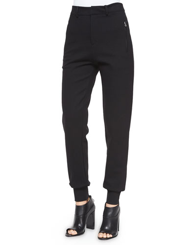 High-Waist Tailored Sweatpants