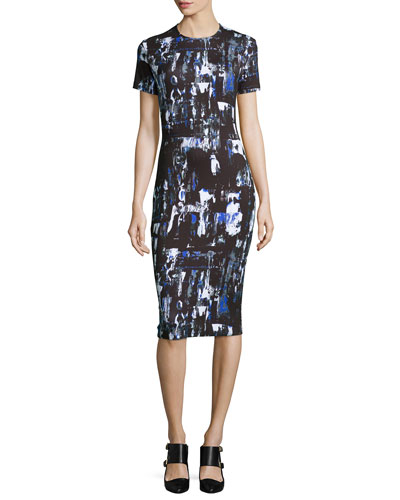 Richter Print Midi Sheath Dress