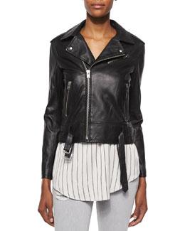 Galaxy Lambskin Leather Jacket