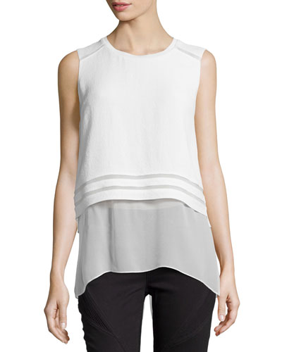 Rudy Sleeveless Blouse W/ Popover