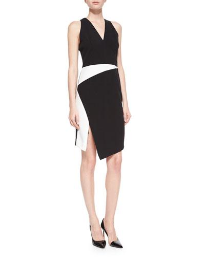 Sleeveless Tech Colorblock Dress