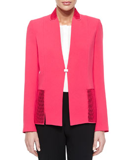 Marguerite Mesh-Panel Jacket